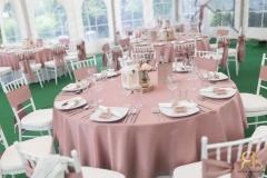 Puder roze stolnjaci