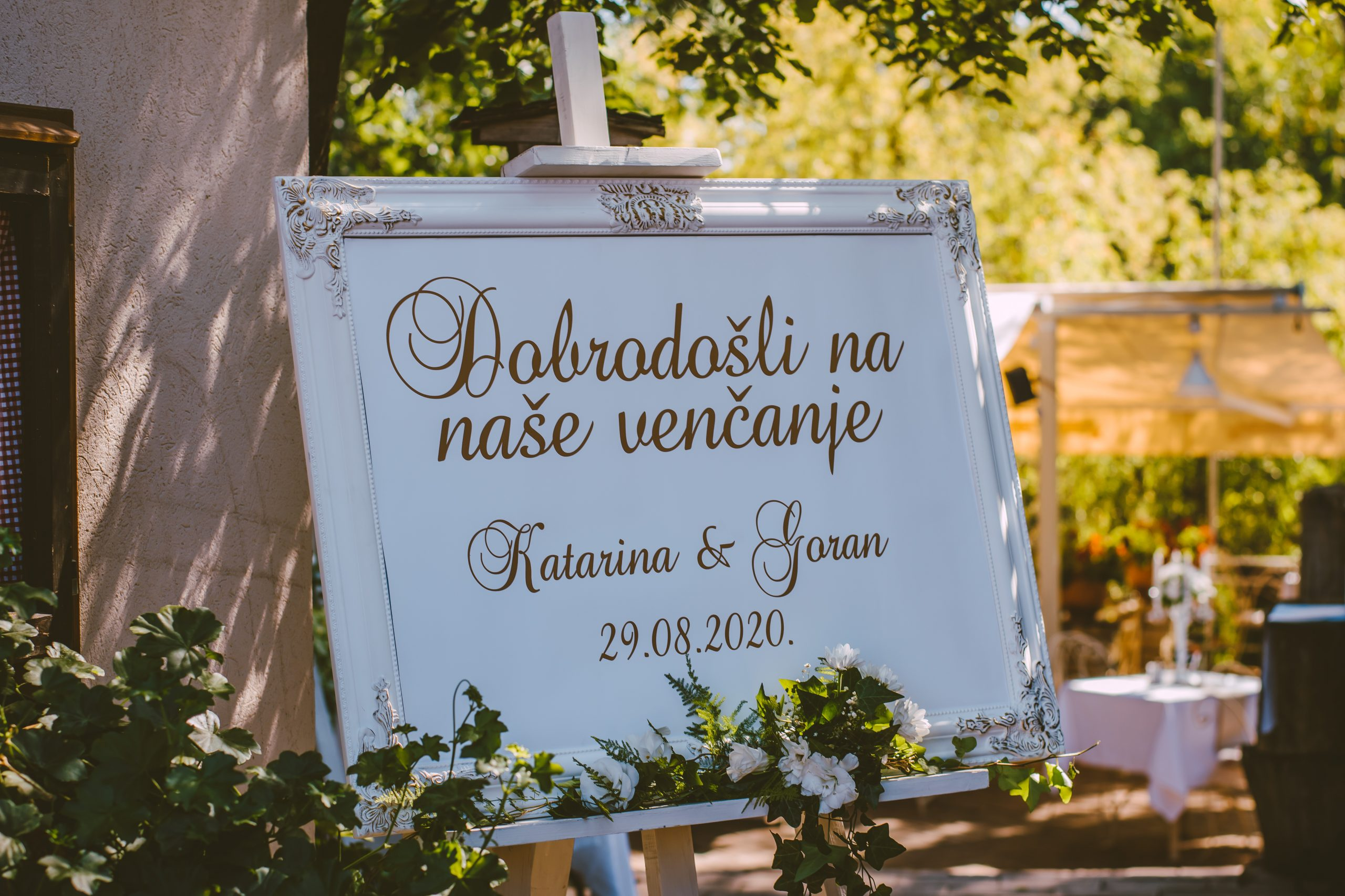 Tabla za raspored gostiju & Tabla za dobrodošlicu